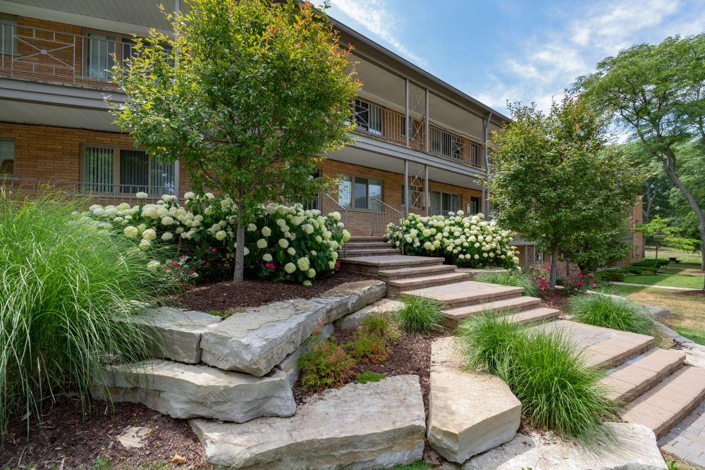 Entrance at Ann Arbor Woods Apartments in Ann Arbor, Michigan