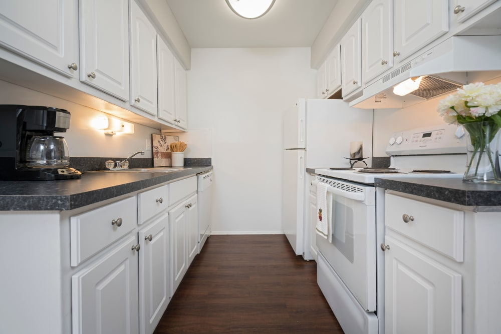 Enjoy a luxury kitchen at Ann Arbor Woods Apartments in Ann Arbor, Michigan