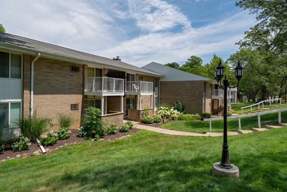 Green spaces at Ann Arbor Woods Apartments in Ann Arbor, Michigan