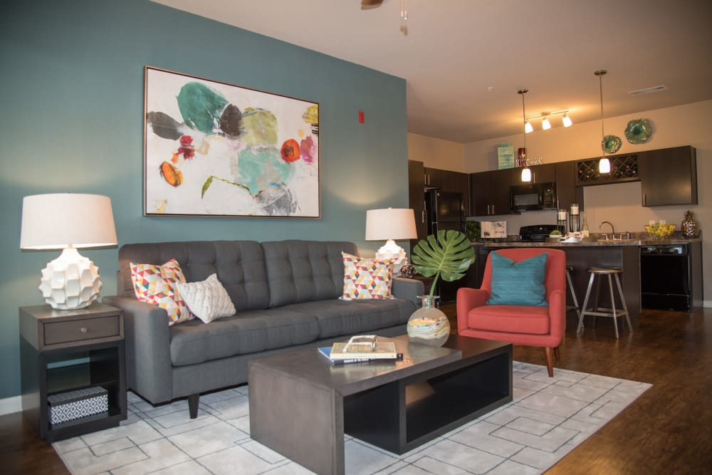 Living room at Springs at Juban Crossing