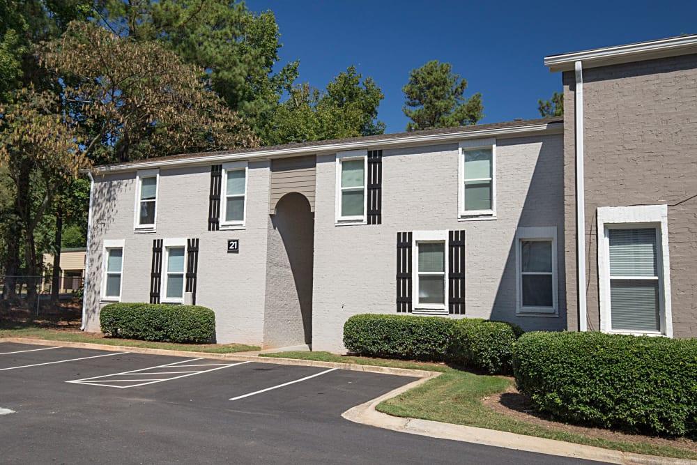 Exterior view of apartments at Avondale Reserve in Avondale Estates, Georgia