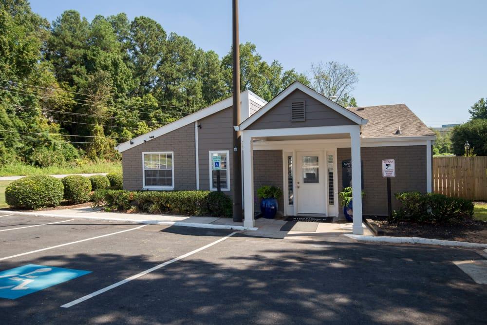 Exterior of leasing office at Avondale Reserve in Avondale Estates, Georgia