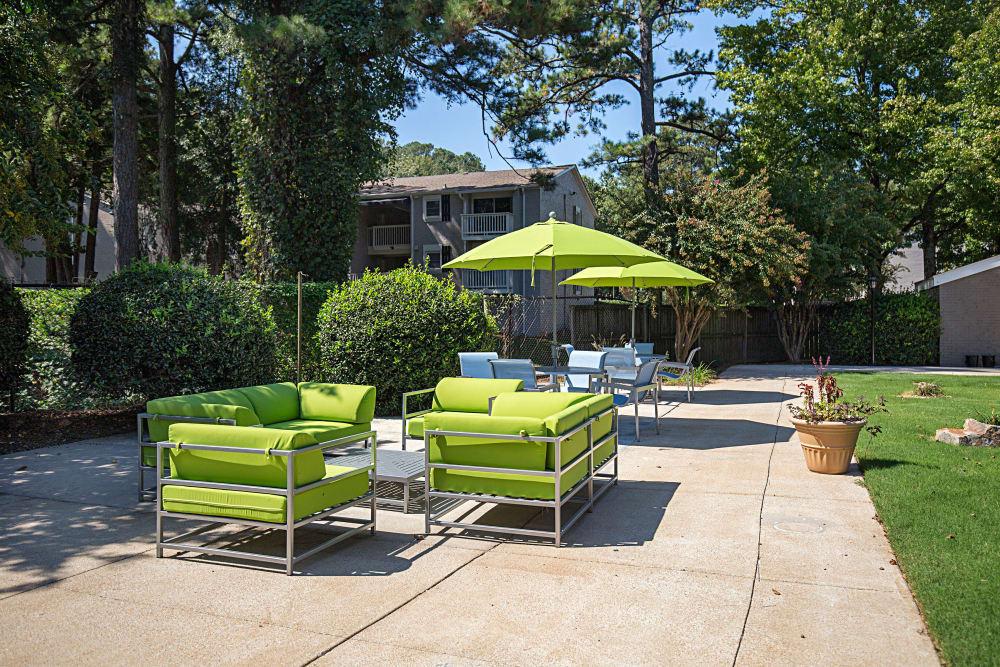 Modern outdoor furniture at Avondale Reserve in Avondale Estates, Georgia