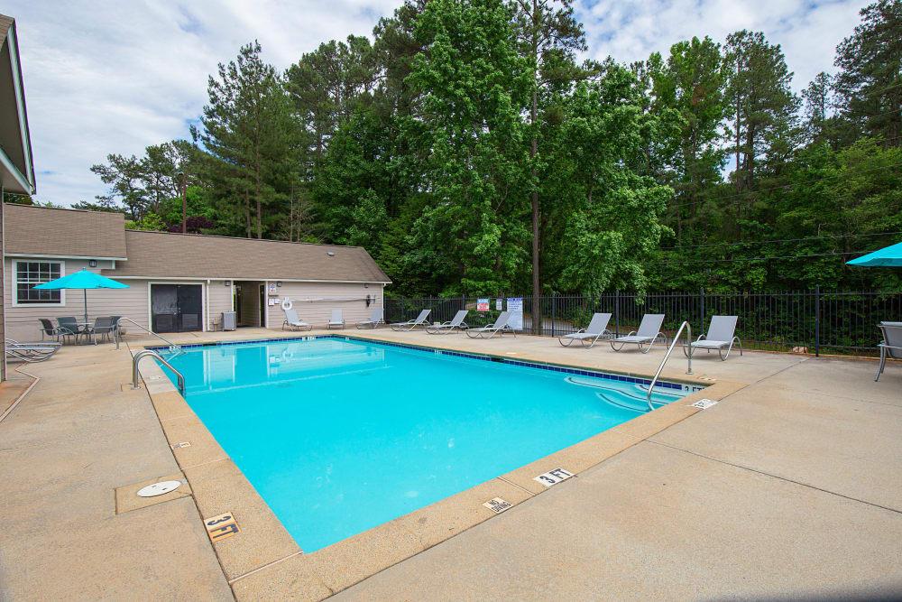 Swimming pool at Gregory Lane in Acworth, Georgia