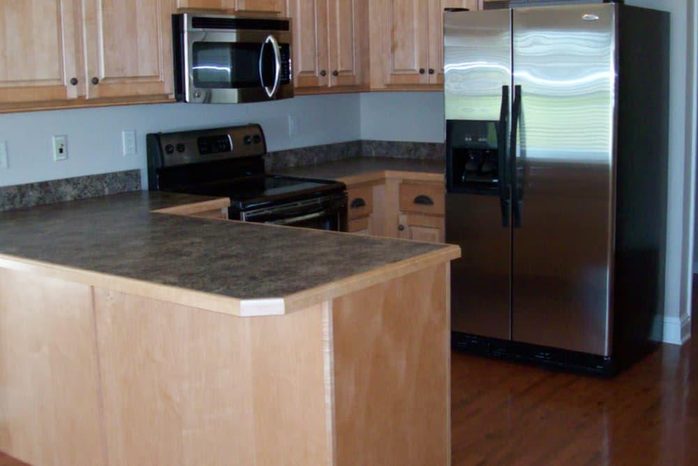 Modern kitchen at Hartmann Village Senior Living in Boonville, Missouri
