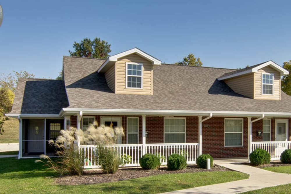 Independent Living cottages at Foxberry Terrace Senior Living in Webb City, Missouri