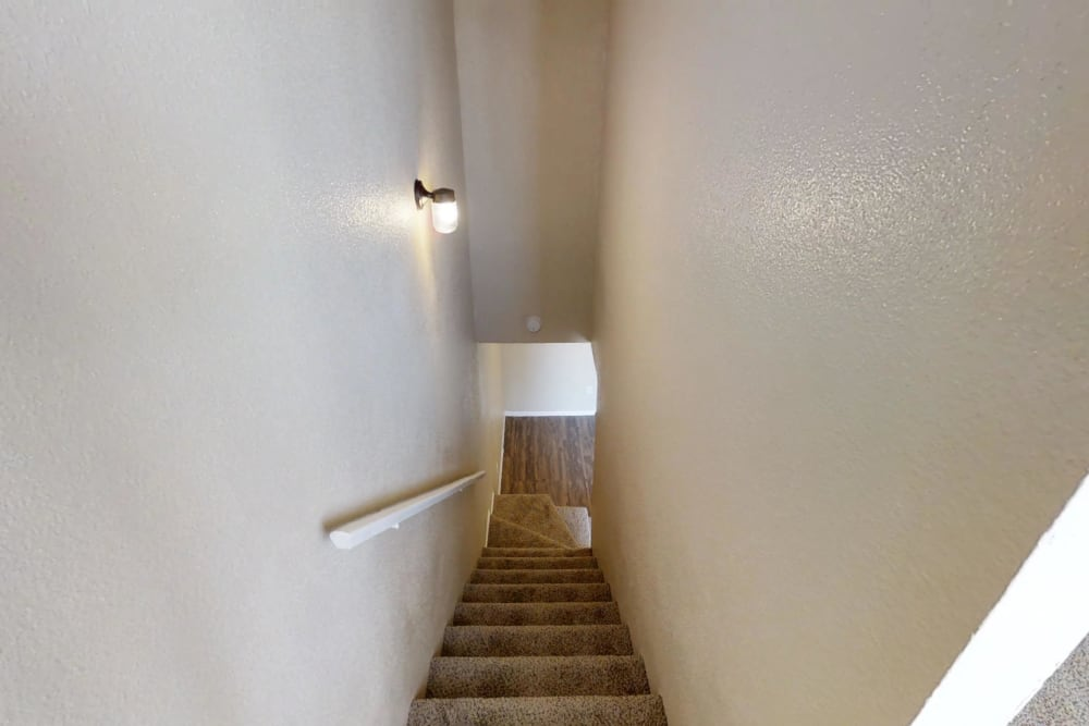 Stairs in apartments in Pasadena, Texas
