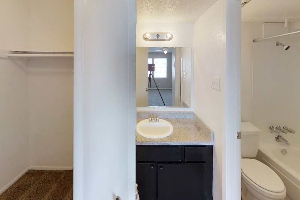 Bathroom at Maple Trail Apartments & Townhomes in Pasadena, Texas