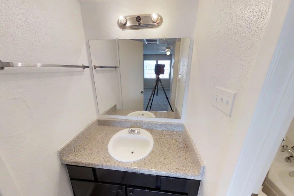 Bathroom at apartments in Pasadena, Texas