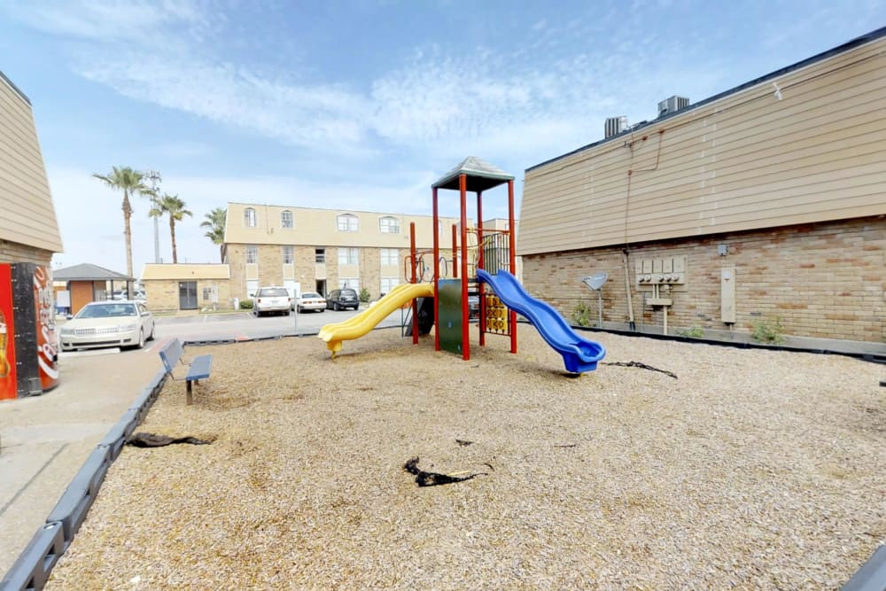 Modern playground at Maple Trail Apartments & Townhomes in Pasadena, Texas