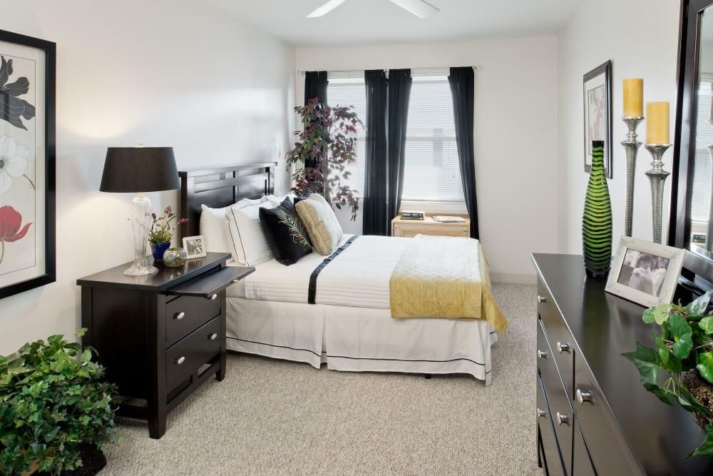 Beautiful model bedroom at Brandywyne Village in East Boston, Massachusetts