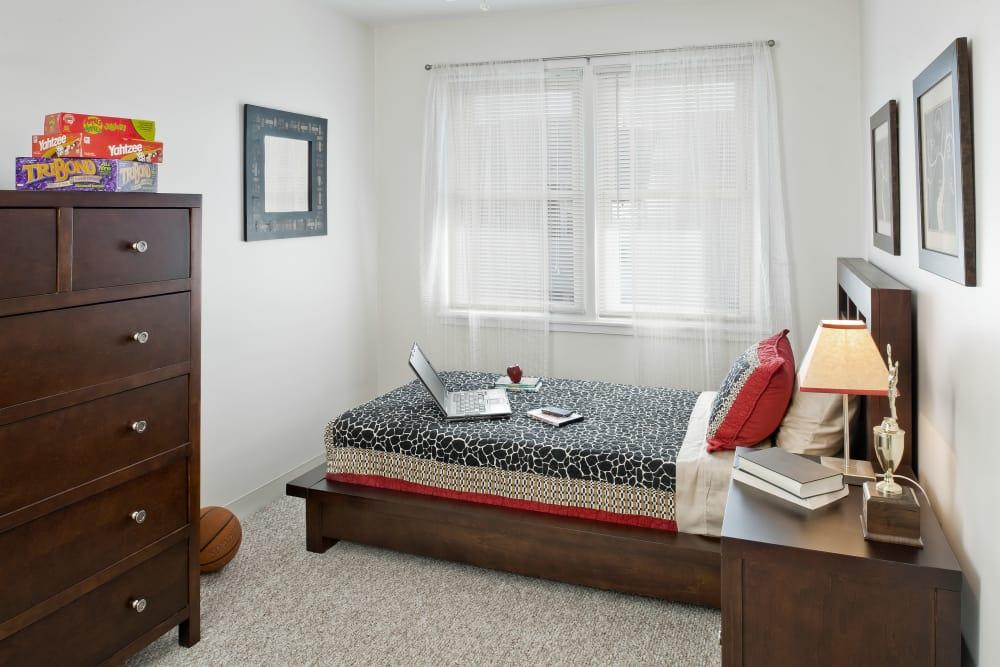Spacious bedroom at Brandywyne Village in East Boston, Massachusetts