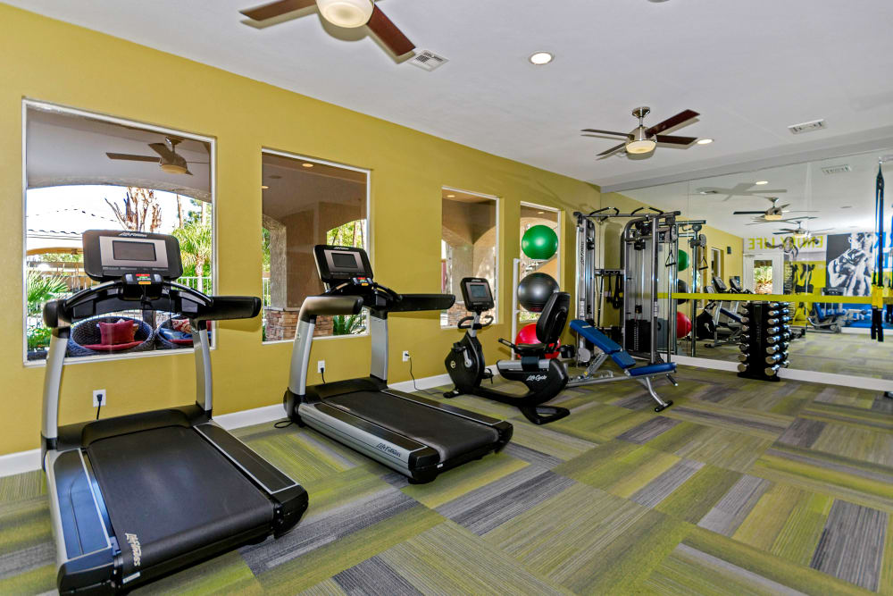 Onsite fitness center at The Boulevard in Phoenix, Arizona