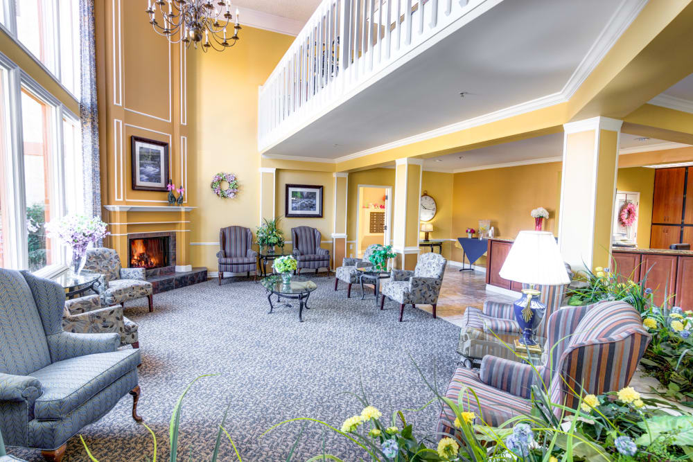 The Wentworth at the Meadows lobby