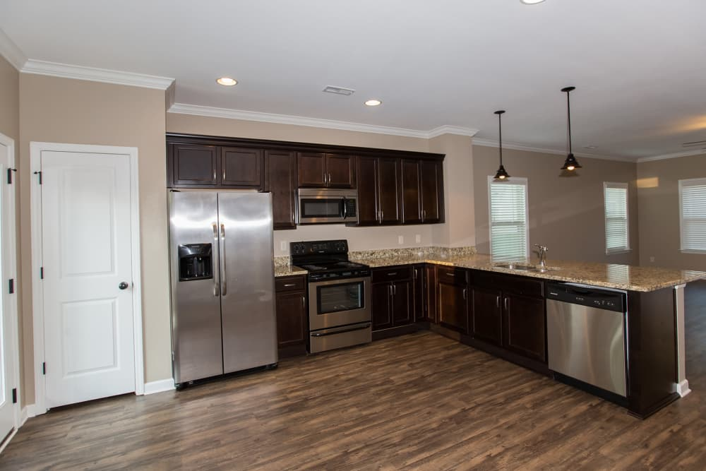 Spacious kitchen at Callio Properties in Chattanooga, Tennessee