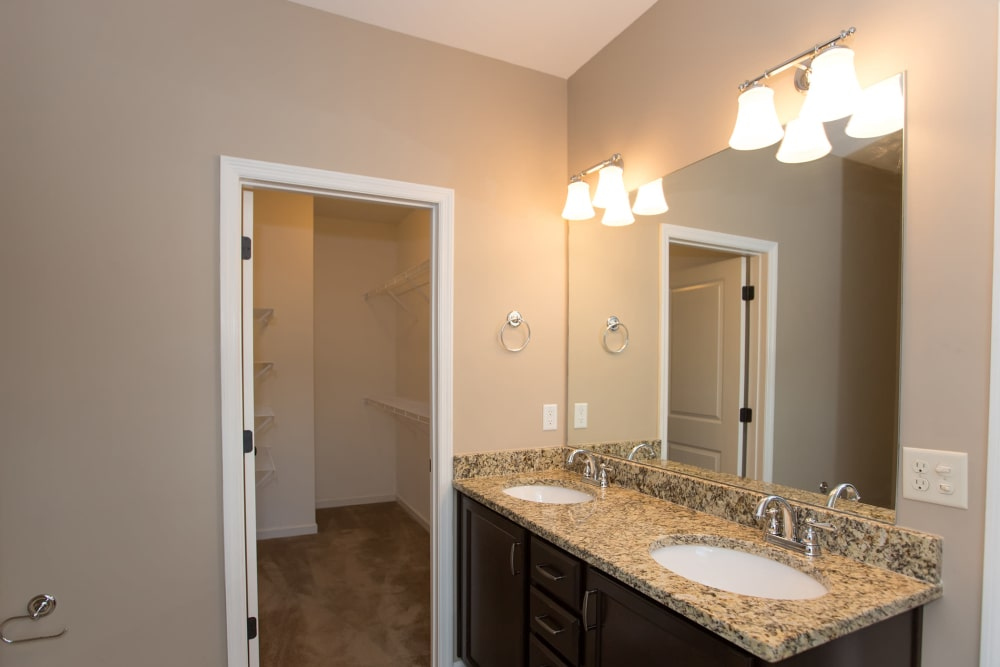 Model bathroom at Callio Properties in Chattanooga, Tennessee