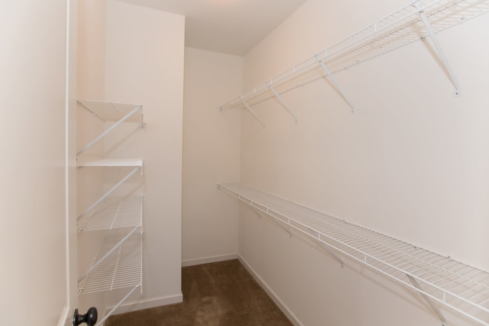 Walk in closet at Callio Properties in Chattanooga, Tennessee