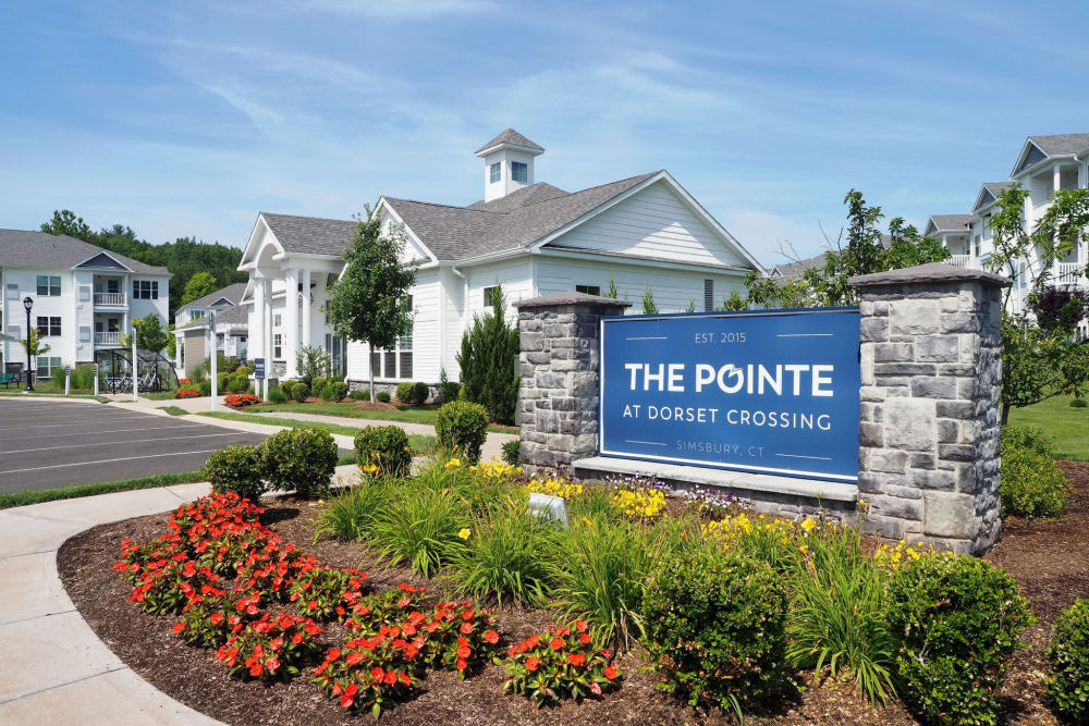 Exterior park place at The Pointe at Dorset Crossing in Simsbury, Connecticut