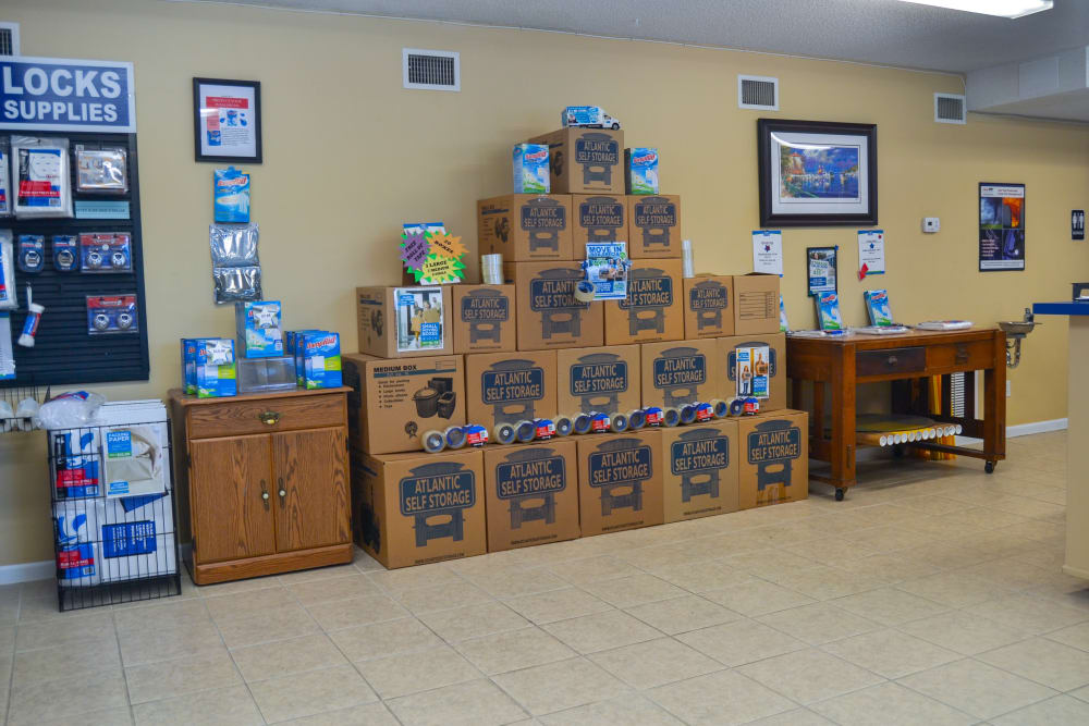 Moving and Packing Supplies for Sale at Atlantic Self Storage