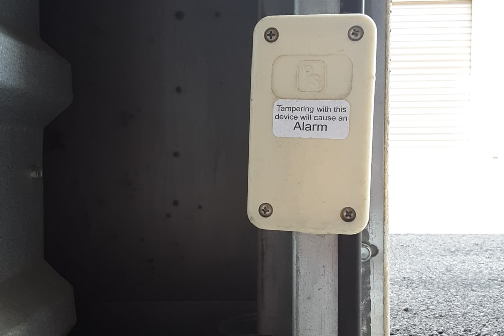 Alarms at our self storage facility in Reno, Nevada