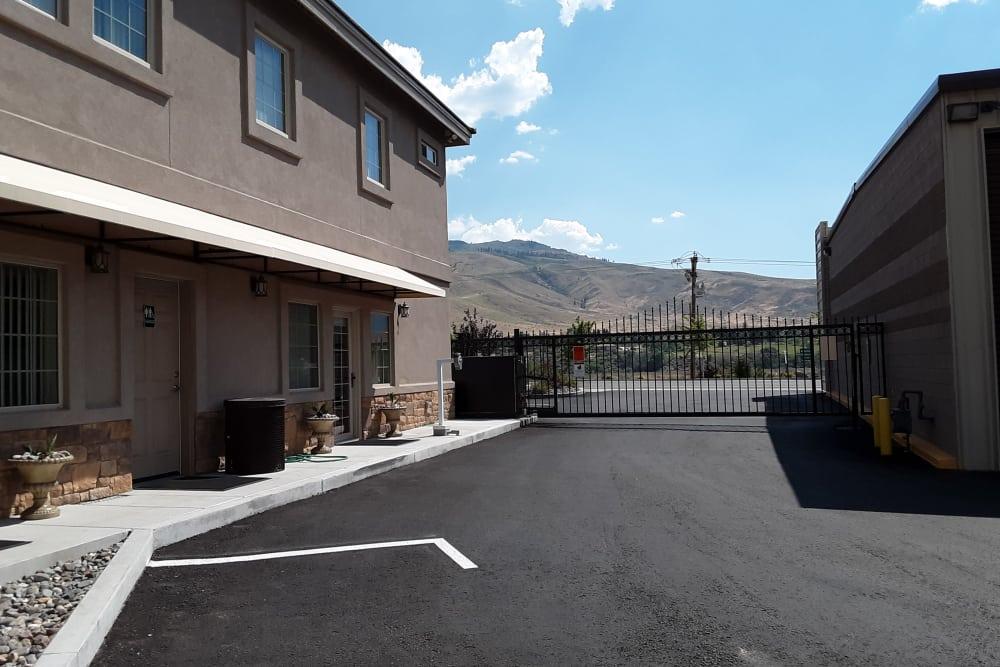 Interstate U-Stor access gate at storage units in Reno, Nevada