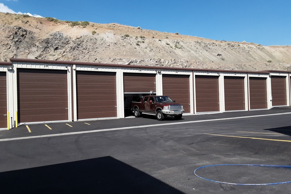 Exterior storage units at Interstate U-Stor in Reno, Nevada