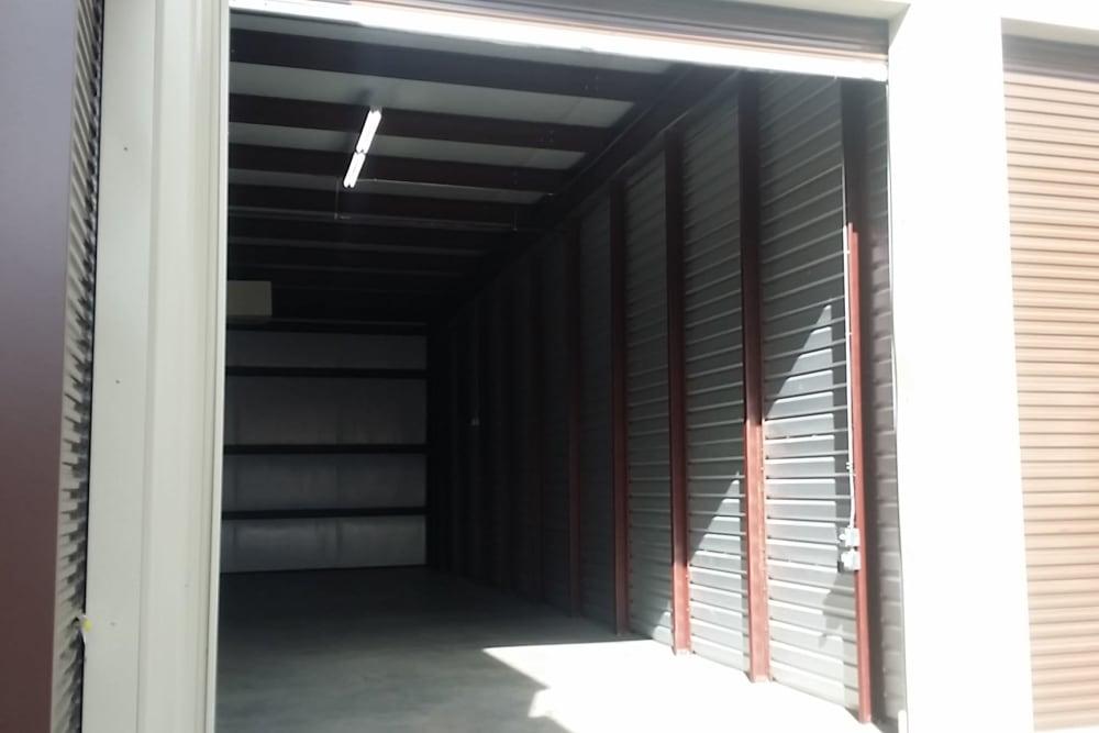 Interior storage units at Interstate U-Stor in Reno, Nevada