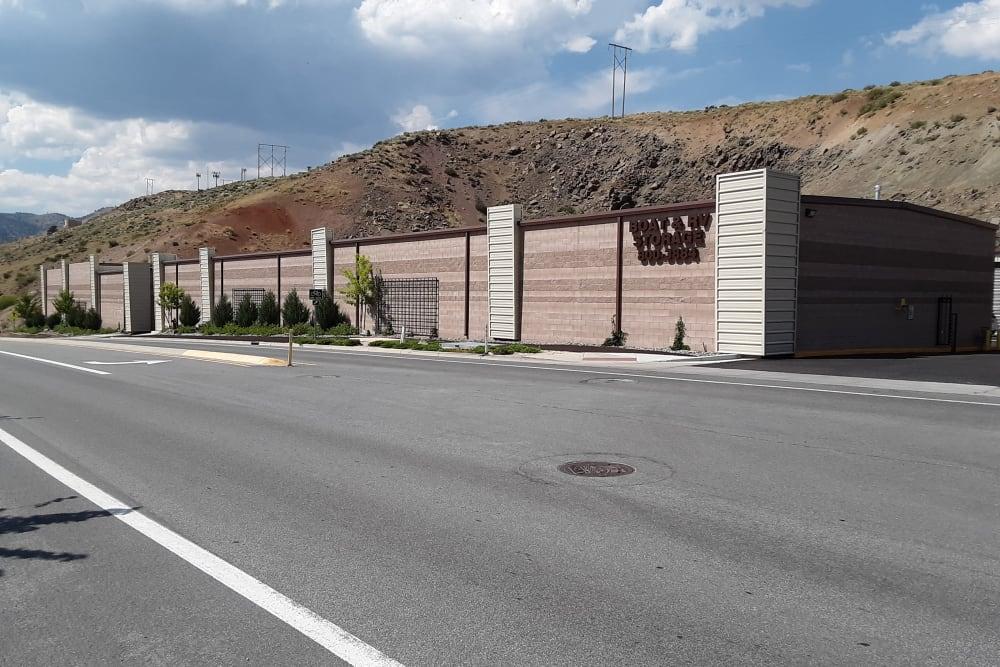 Storage front sign at Interstate U-Stor in Reno, Nevada
