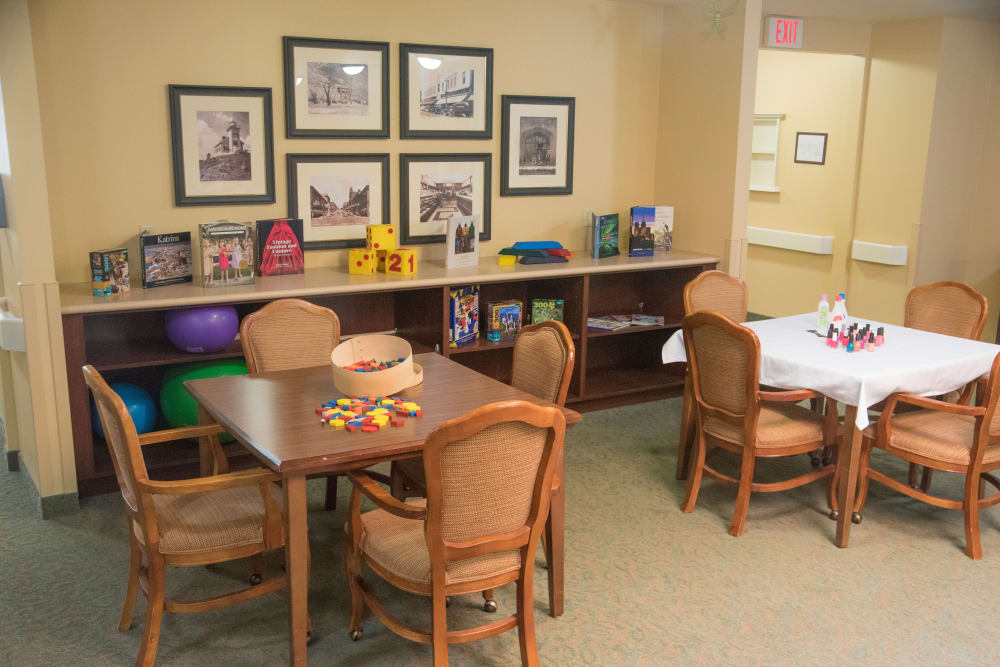 Arts and crafts room at Brookridge Heights in Marquette, Michigan