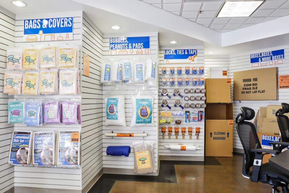 Storage supplies sold at A-1 Self Storage in Belmont, California