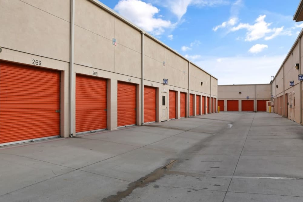 exterior storage units at A-1 Self Storage in Cypress, CA
