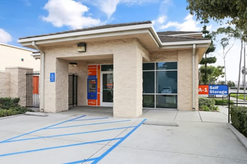 Office entrance at A-1 Self Storage in Cypress, CA