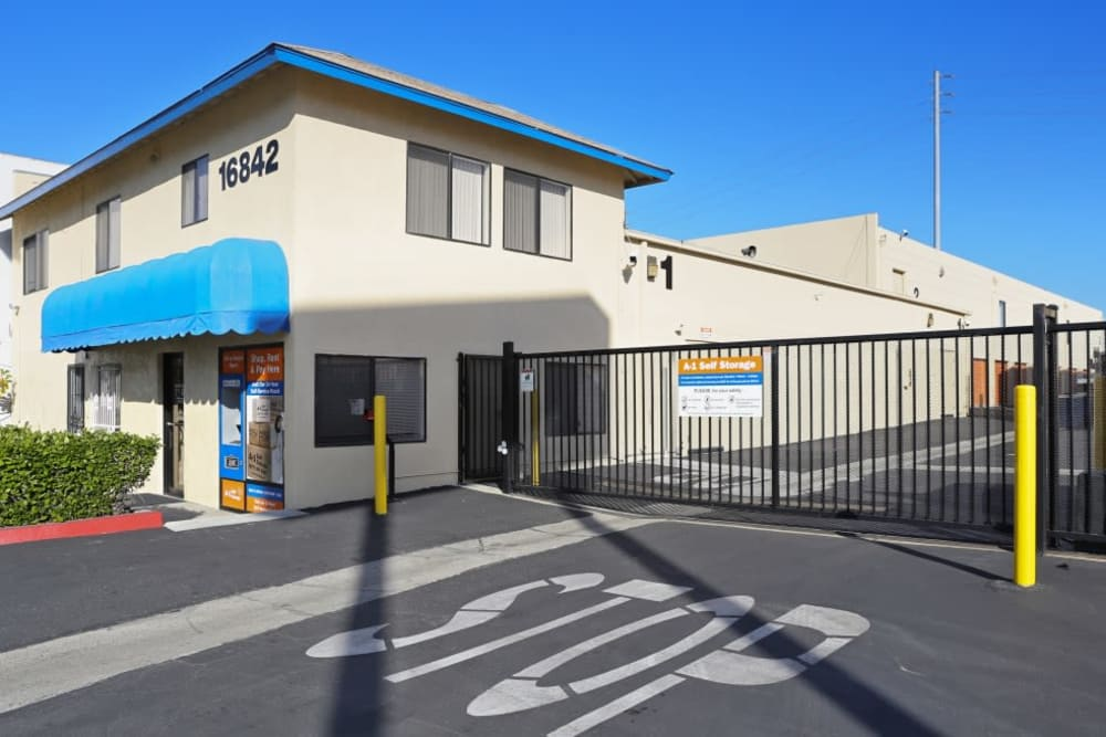 Exterior of A-1 Self Storage in Fountain Valley, California