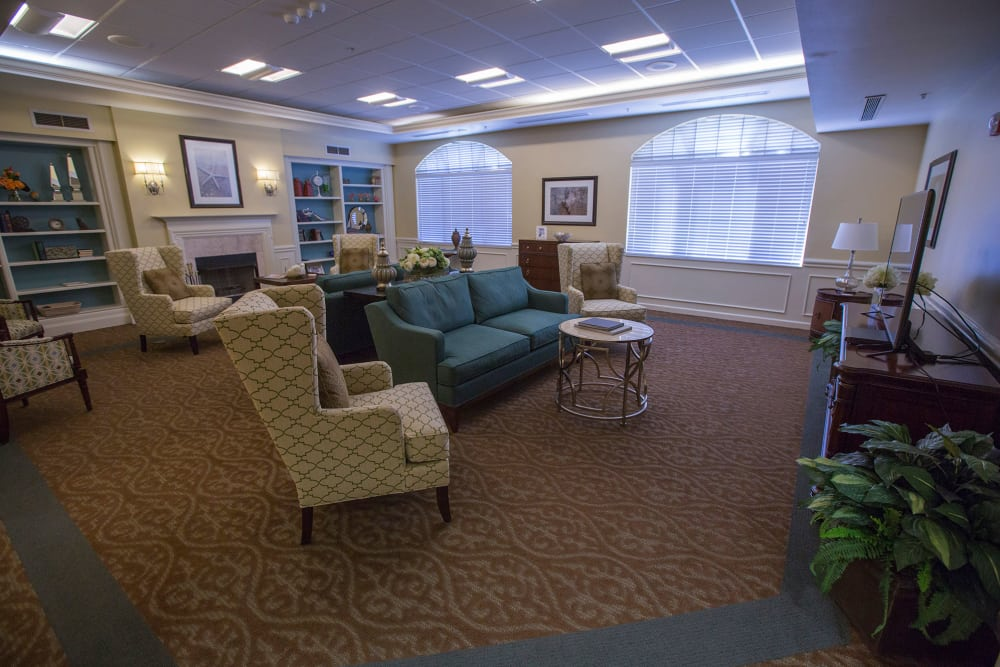 Lounge at assisted living facility in Boynton Beach, Florida