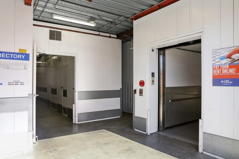 storage elevators in Fullerton, CA | A-1 Self Storage