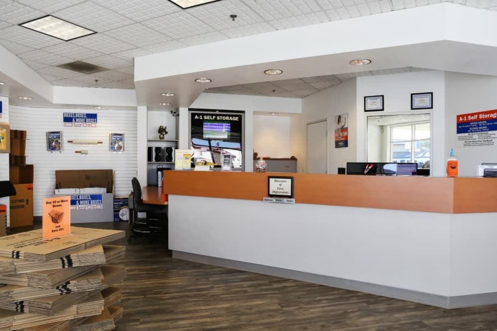 Service desk at Fullerton, CA | A-1 Self Storage