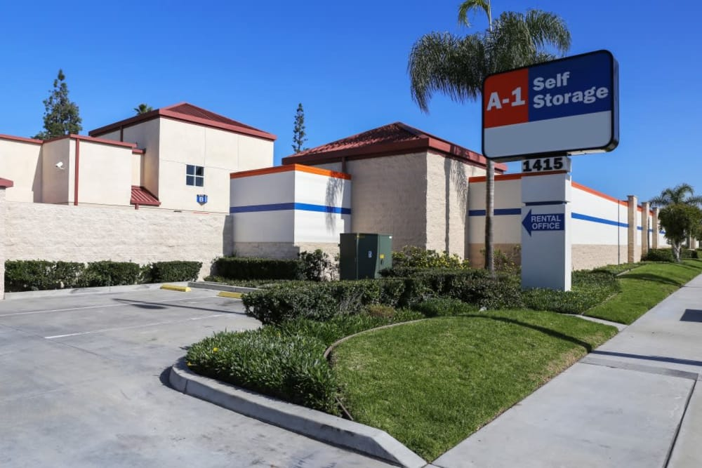 Moving Supplies at A-1 Self Storage in Fullerton.