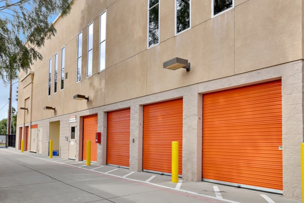 Exterior storage units at A-1 Self Storage in San Jose, California