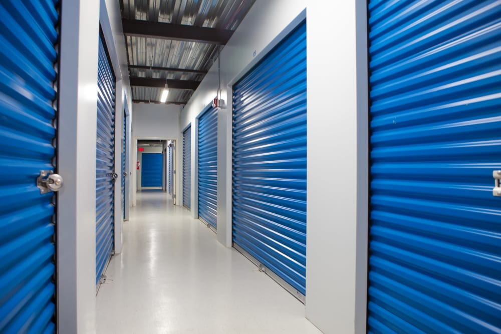 Interior units at Atlantic Self Storage in Saint Johns, Florida