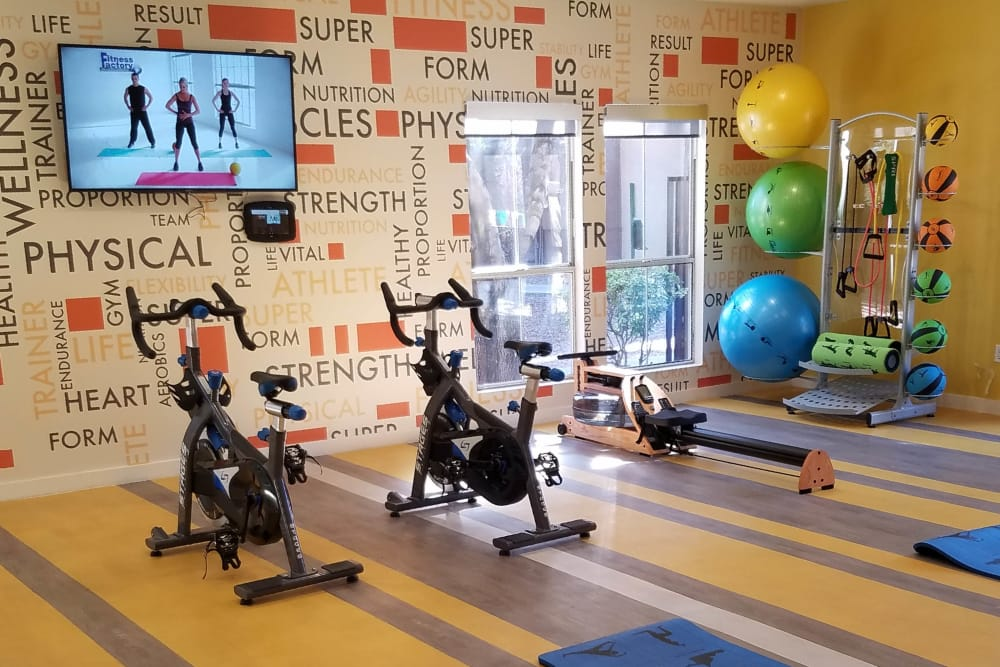 Well-equipped fitness center at Solis at Flamingo in Las Vegas, Nevada