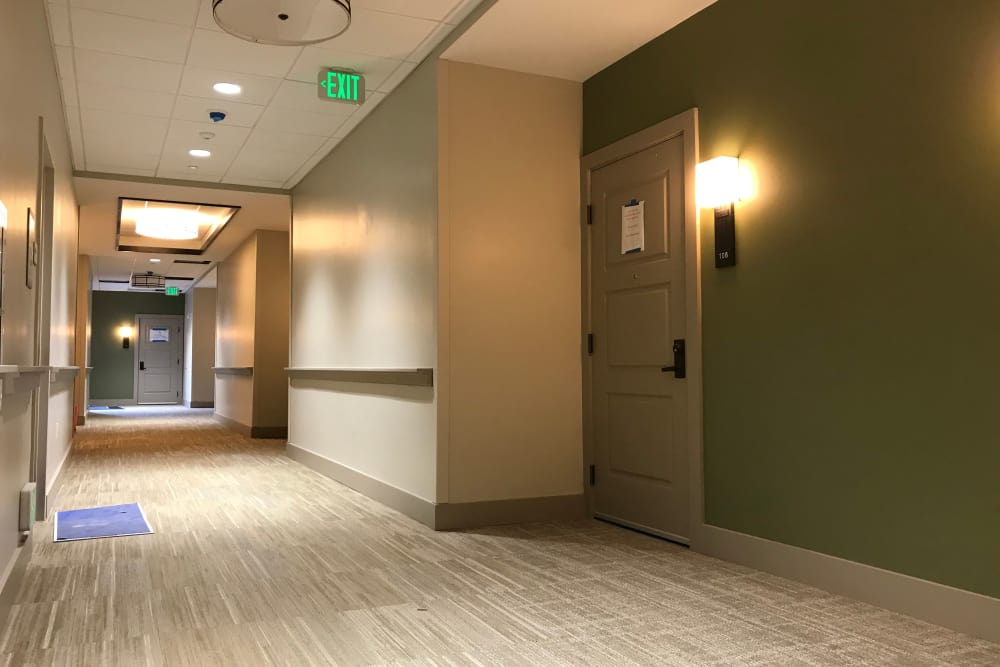 Hallway at Sage Mountain in Thousand Oaks, California
