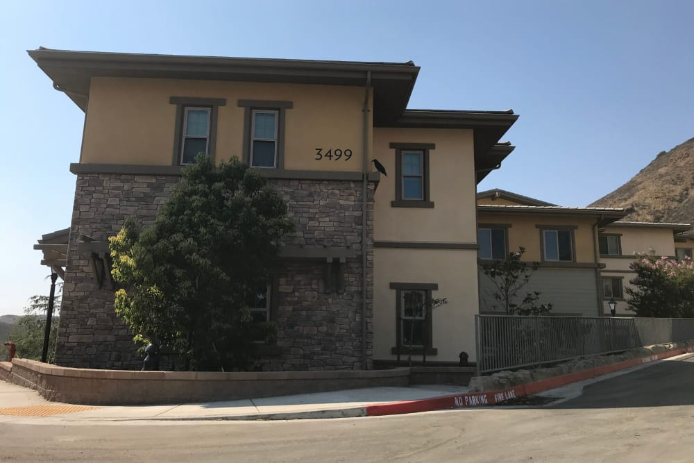 Construction progress of exterior building at Sage Mountain in Thousand Oaks, California