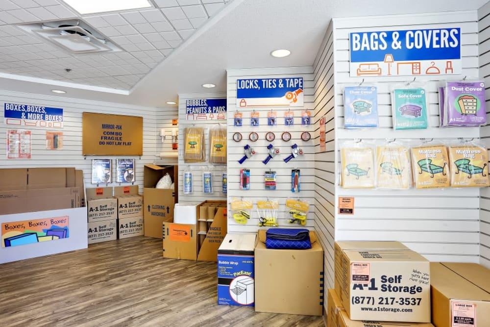 Storage supplies sold at A-1 Self Storage in San Diego, California