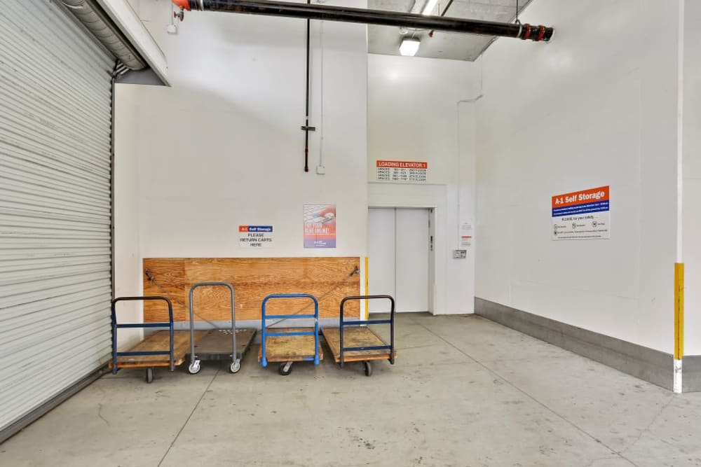 Clean facility at A-1 Self Storage in San Diego, California