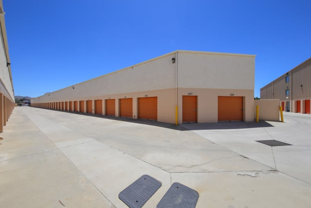 Outdoor storage units at A-1 Self Storage in El Cajon, California