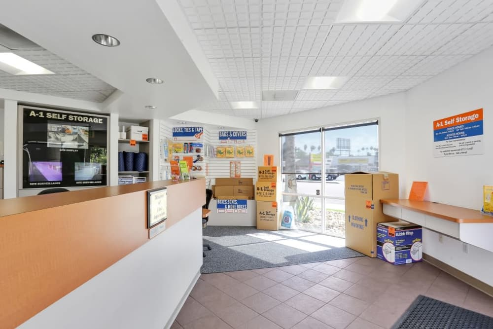 Front office at A-1 Self Storage in El Cajon, California