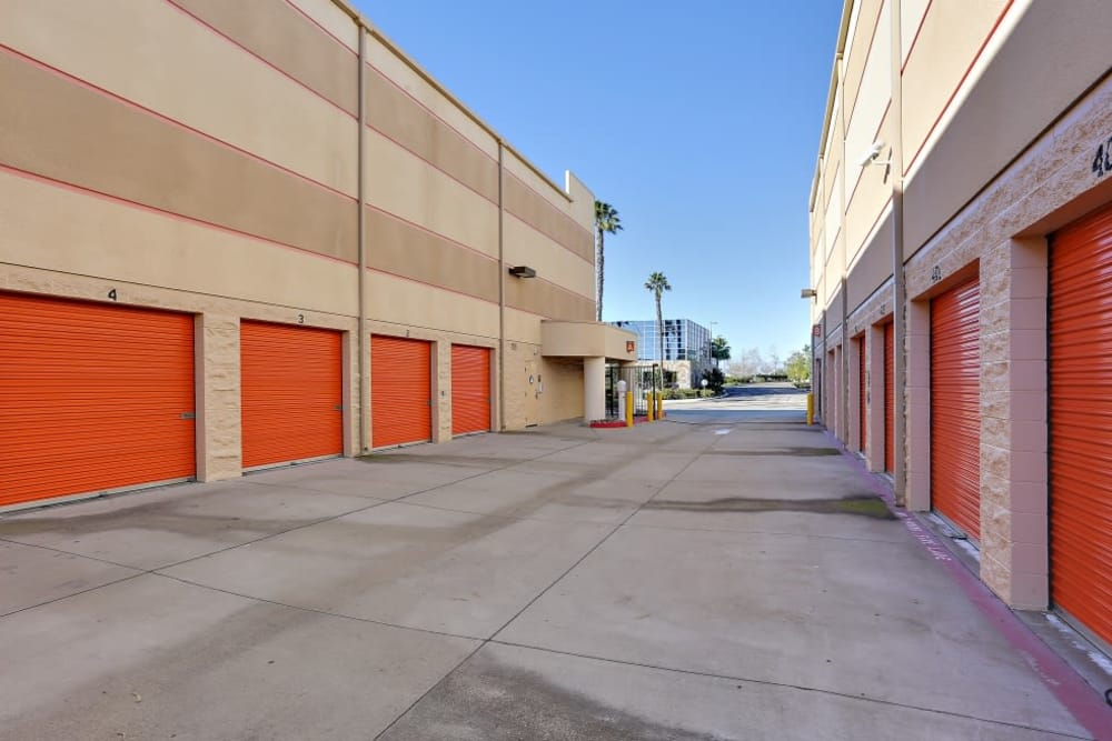 exterior storage units at A-1 Self Storage in San Diego, California