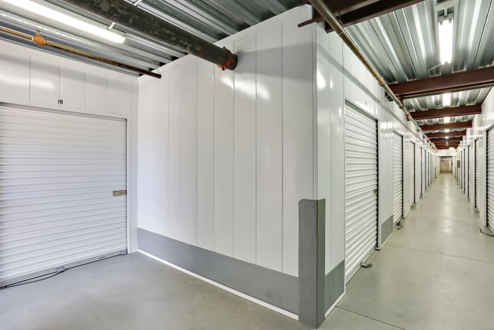 Interior storage units at A-1 Self Storage in San Diego, California