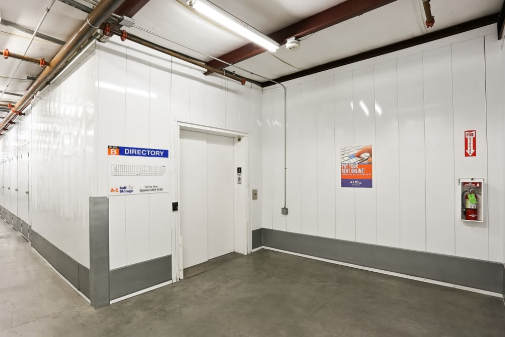 Interior storage units in La Mesa, CA | A-1 Self Storage