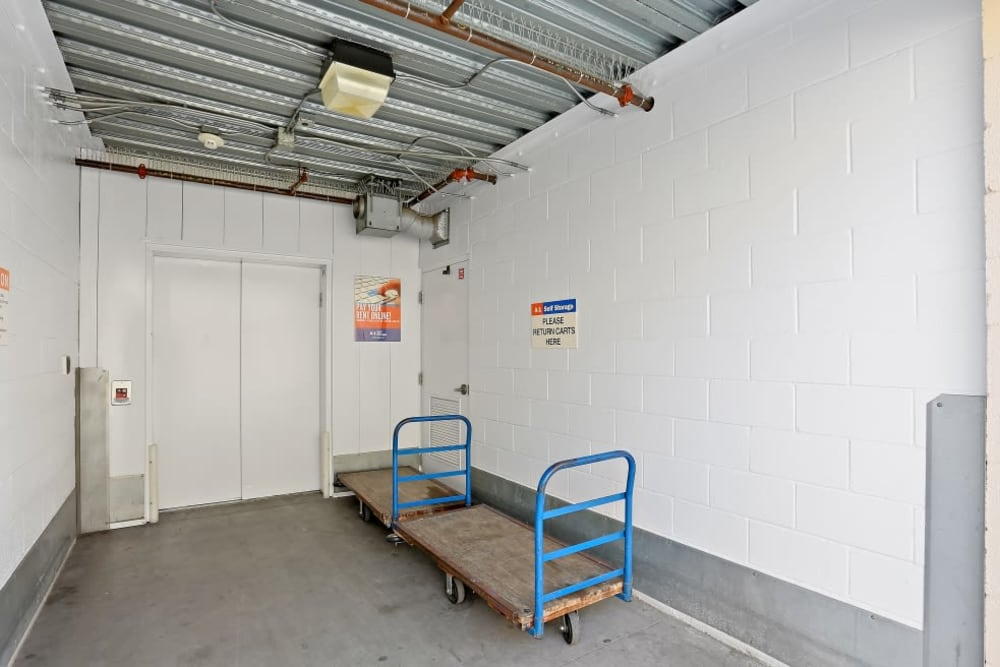 loading carts at A-1 Self Storage in Lakeside, CA